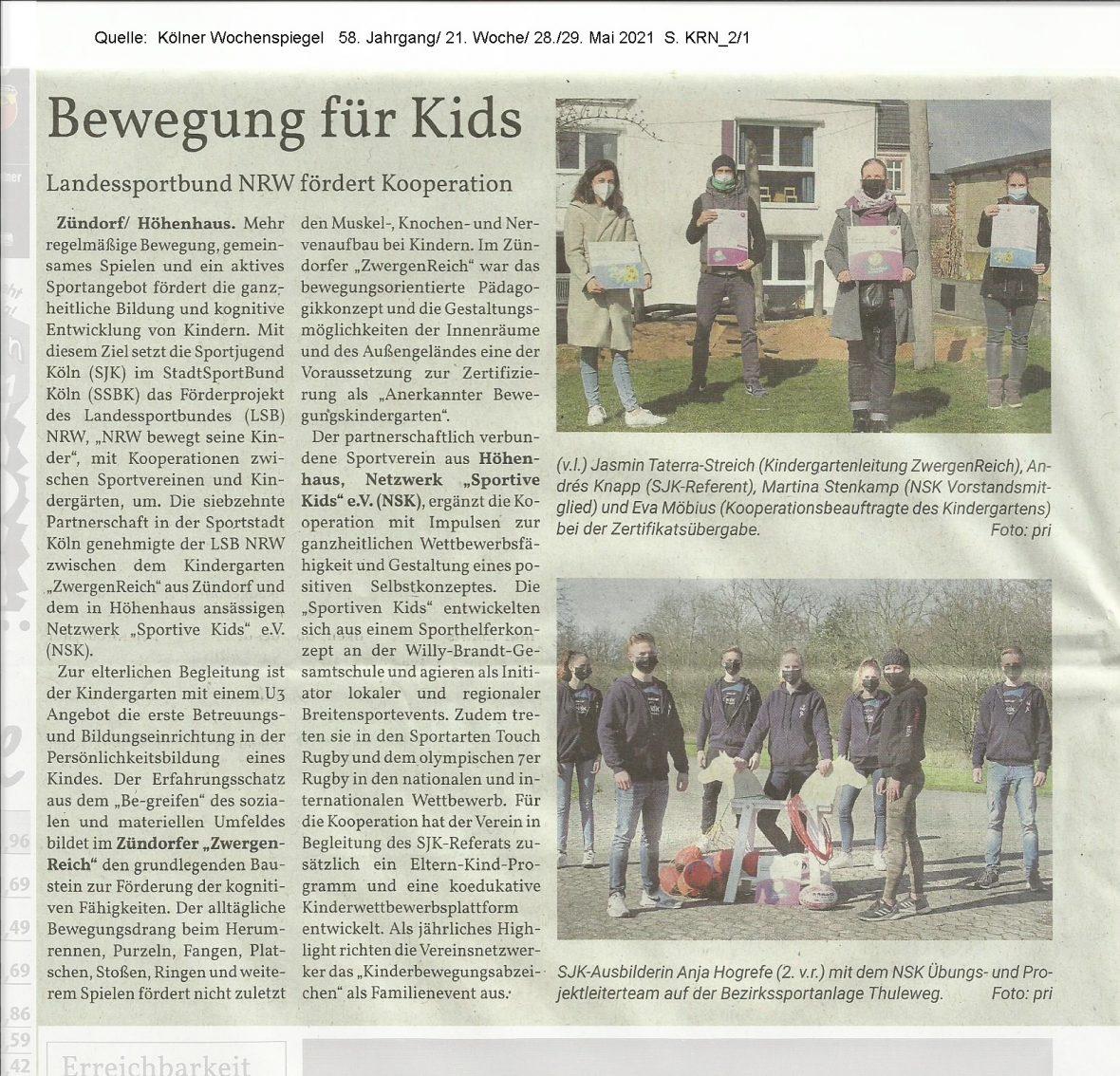Presse 2021 Kindergartenkooperation